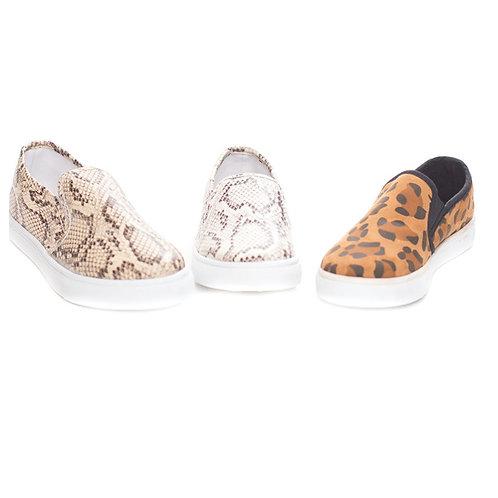 Leopard/Snake Slip On