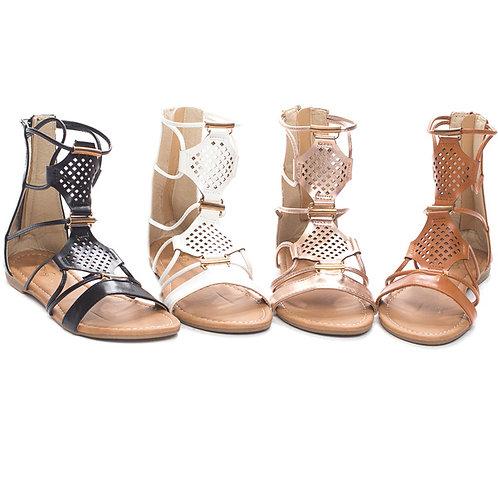 Perforated Gladiator Sandal