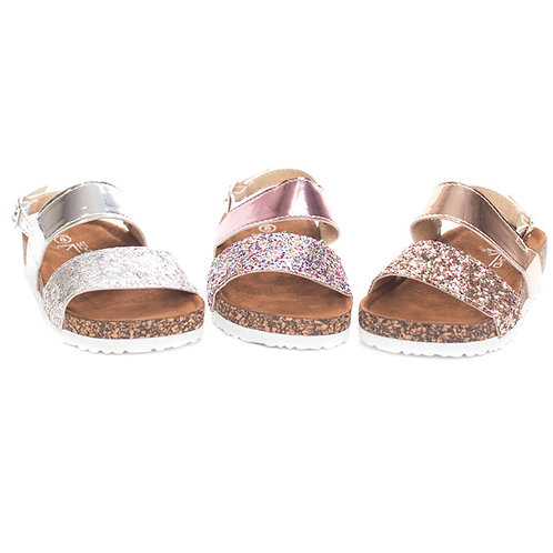 Girls Cork Glitter Sandal