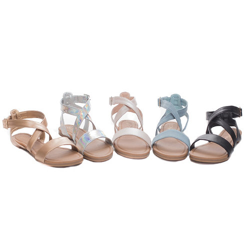 Side Buckle Sandals