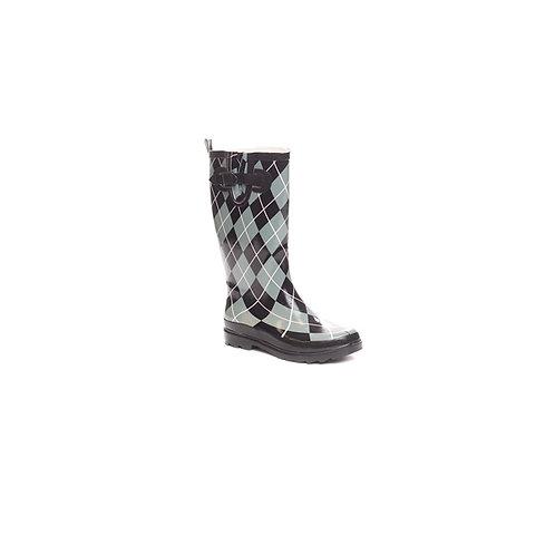 Argyle Rain Boot