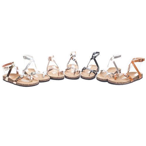 Strap Flatbed Sandals