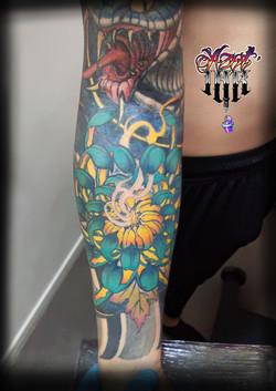 tatouage bras japonais à Bordeaux
