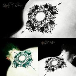 tatouage dos nuque femme