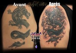 reprise ancien tatouage à Bordeaux