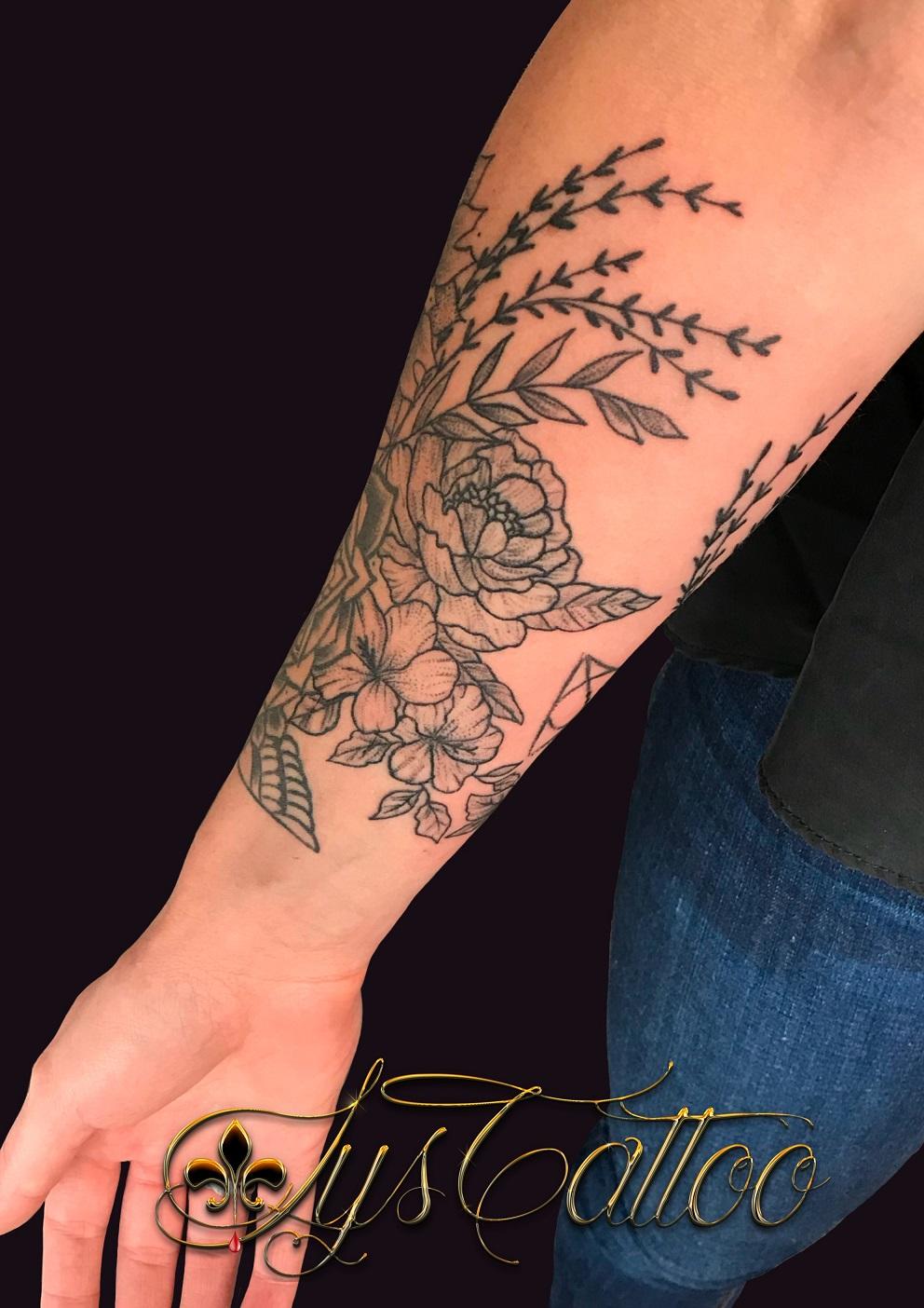 fleur floral bras