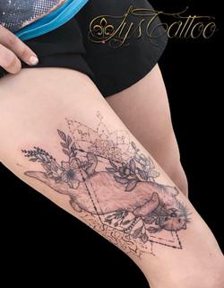 tatouage belle loutre et mandala à Bordeaux