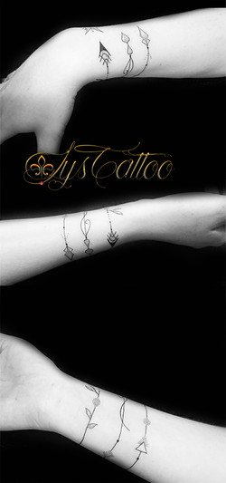 tatouage bracelet fleches