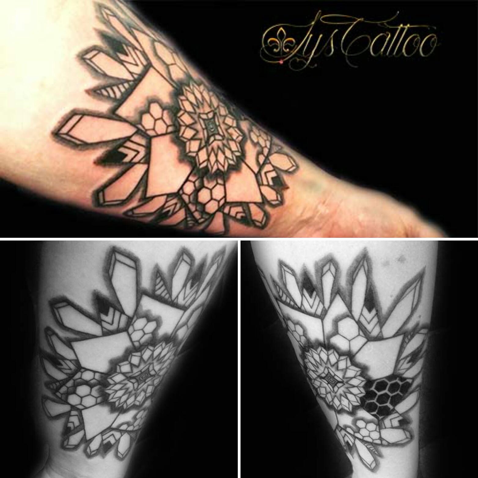 tatouage avant bras homme mandala