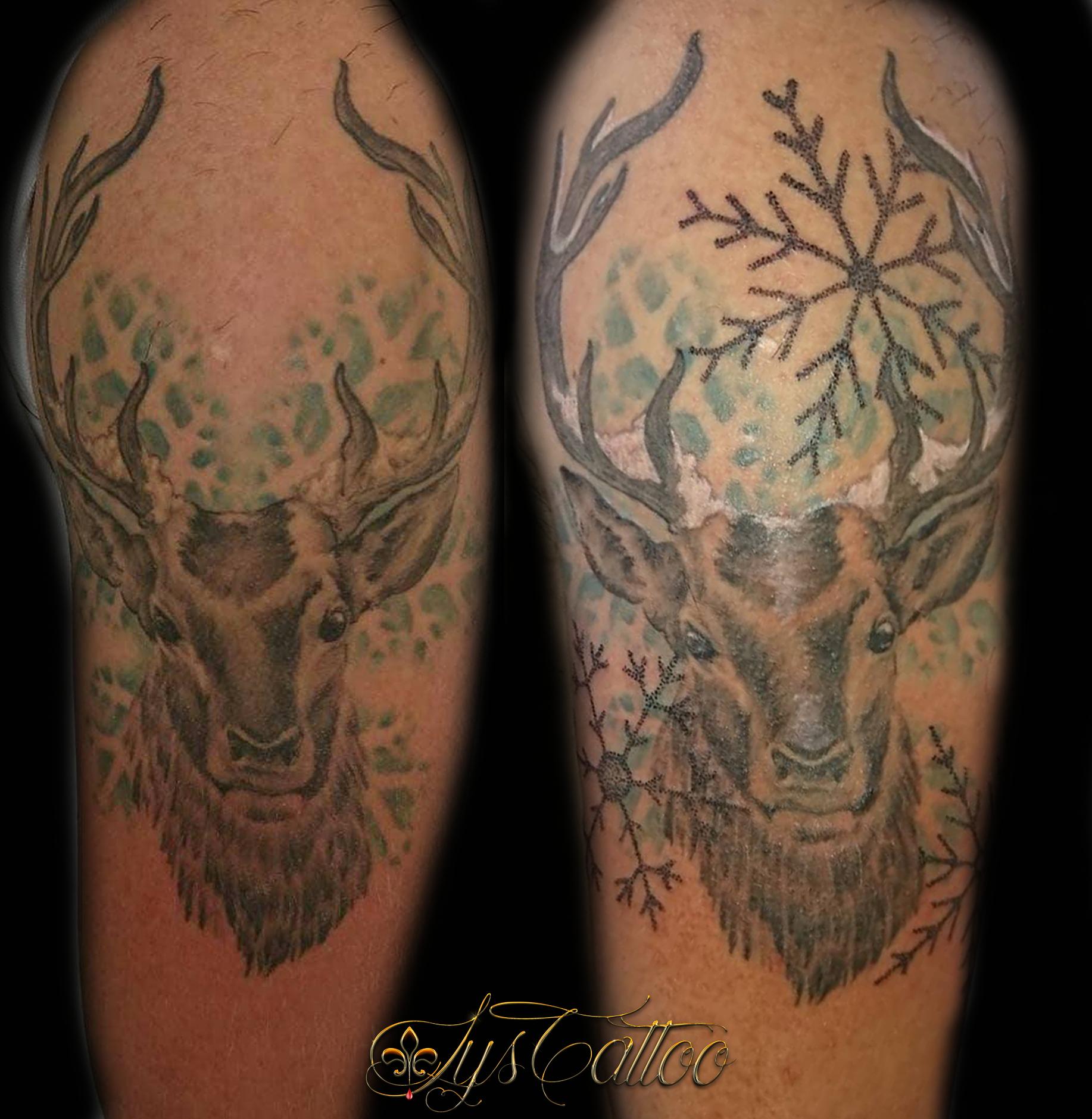 tatouage cerf