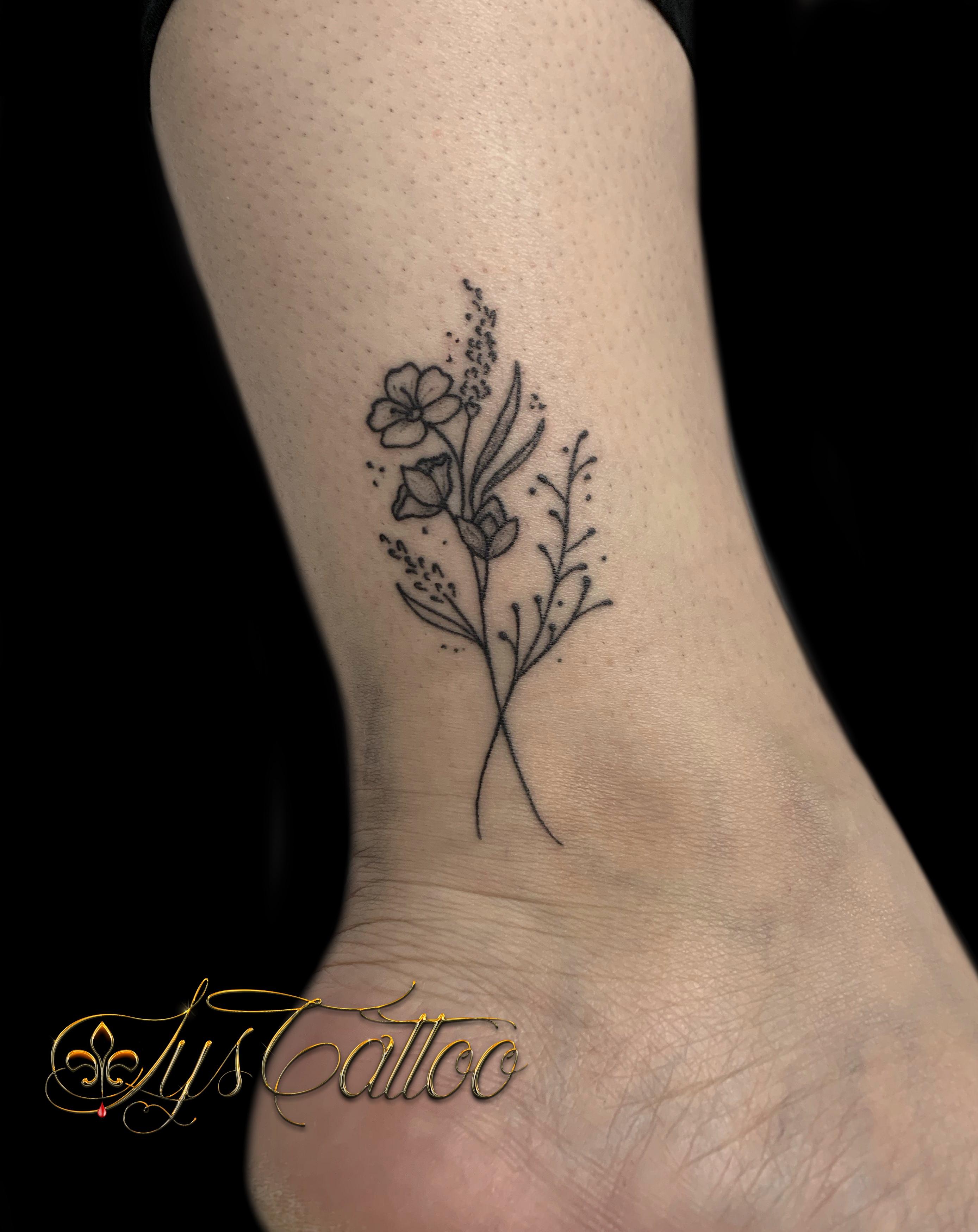 tatouage brindille