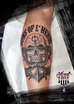 tatouage skull à Bordeaux