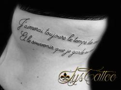 tatouage lettrage femme mérignac