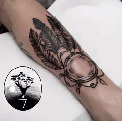 tatouage attrape rêve indien à Bordeaux