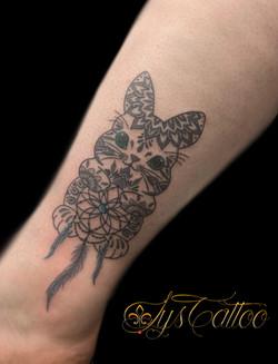 tatouage lapin mandala