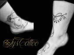 tatouage cheville femme