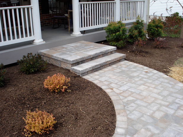 Front porch and walkway