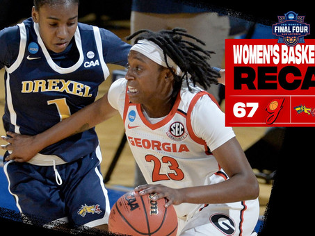 Georgia Downs Drexel, 67-53, to Advance to NCAA Second Round