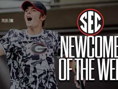 Zink Earns SEC Newcomer of the Week Honor