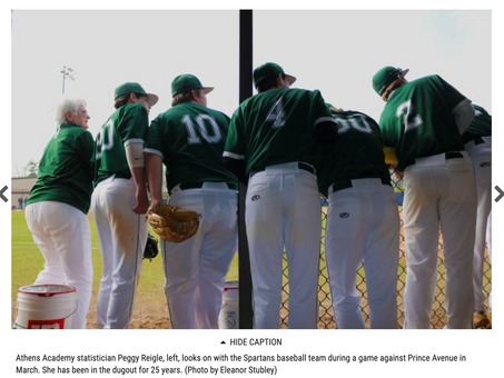 Athens Academy's Peggy Reigle still in dugout after 25 years