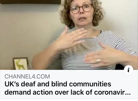 Deaf and blind communities demand action over lack of Coronavirus help