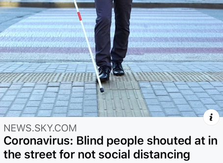 Blind people shouted at for not social distancing