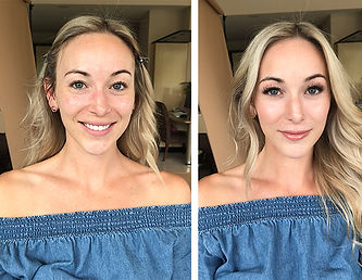 Natural, romantic soft makeup look