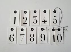 Printed Numbers £1
