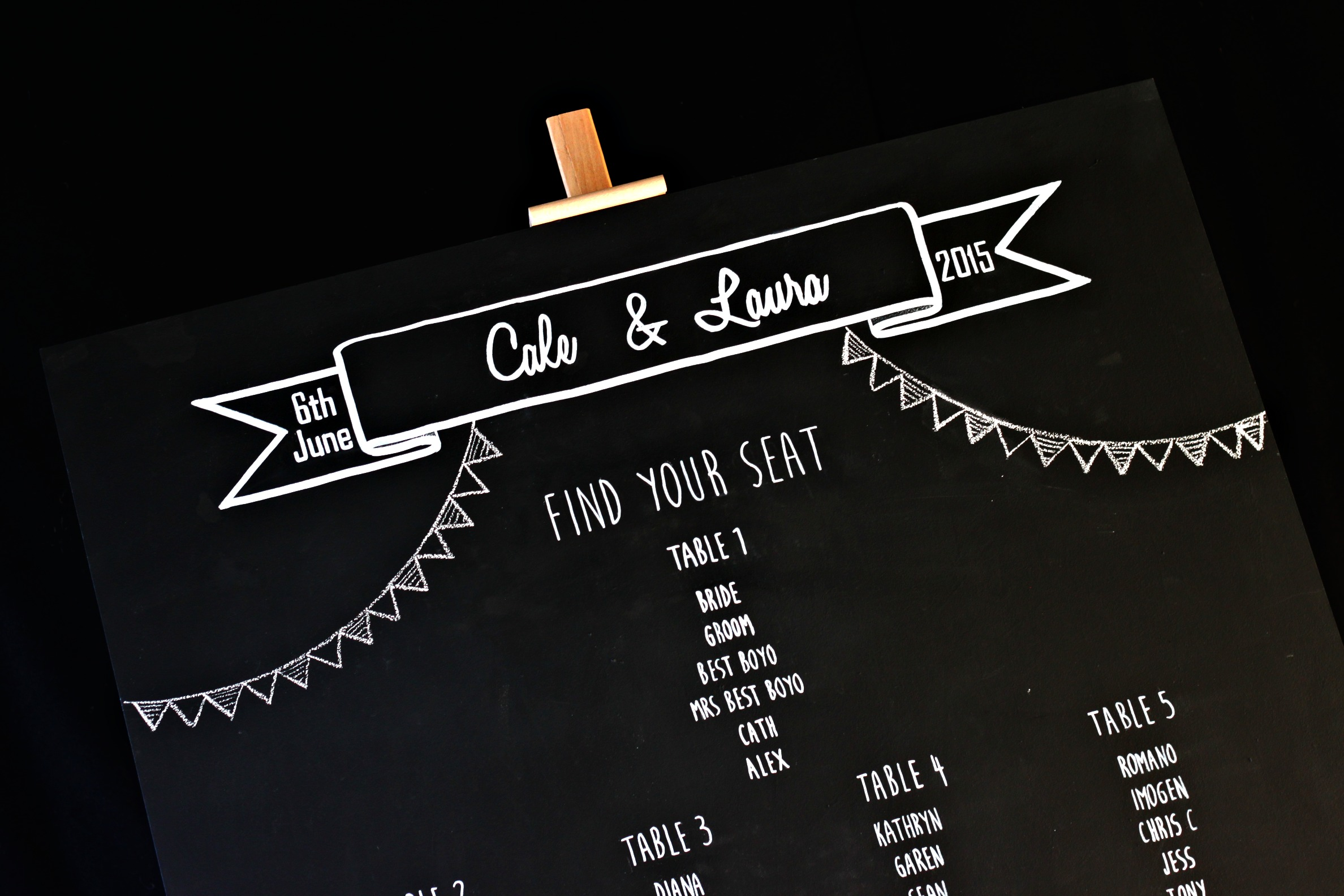table plan blackboard pm