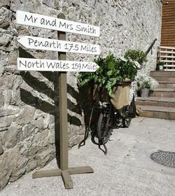 Bespoke Wedding Signpost