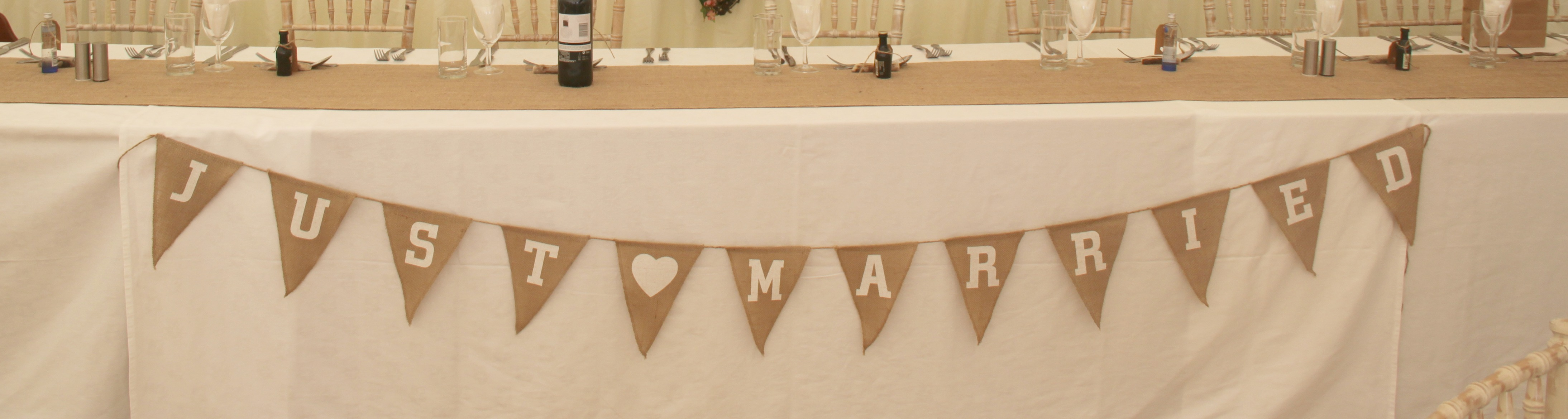 'Just Married' Banner £3
