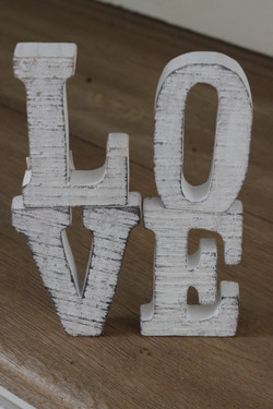 Wooden 'Love' Sign