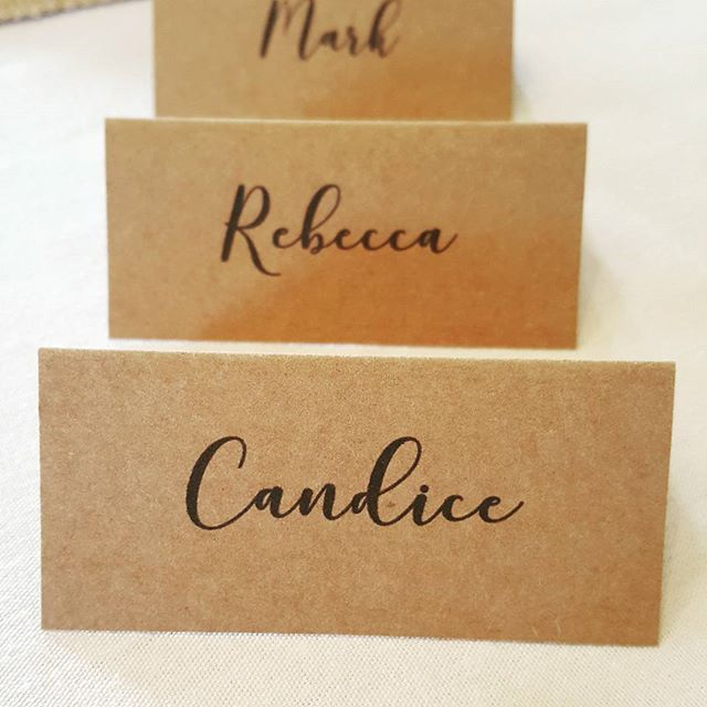 Kraft Card Place Names