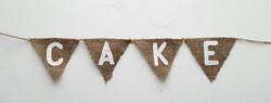Hessian Cake Banner