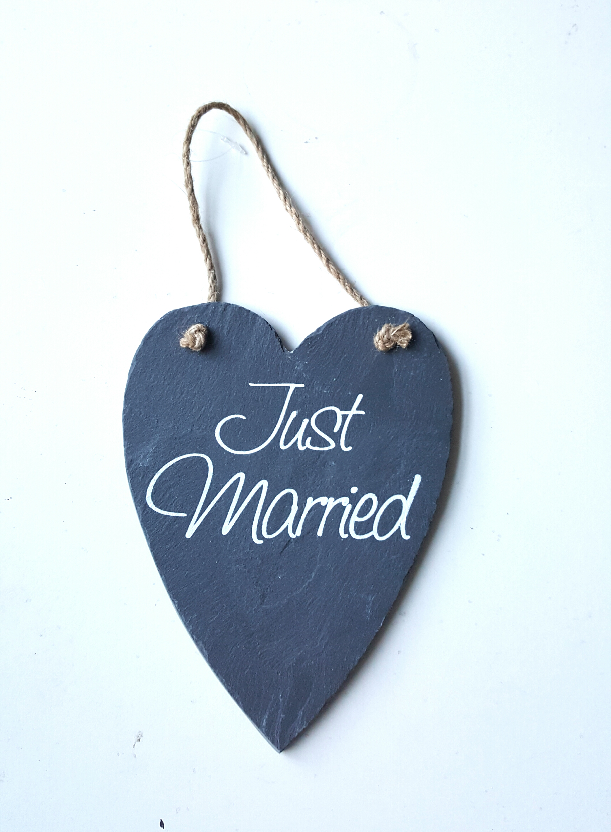 Just Married Slate Sign