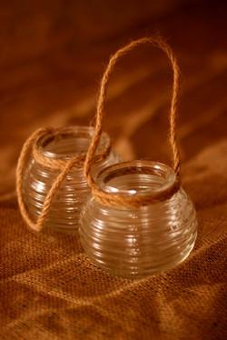 Ribbed Jars 50p