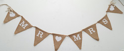 'Mr and Mrs' Banner £1