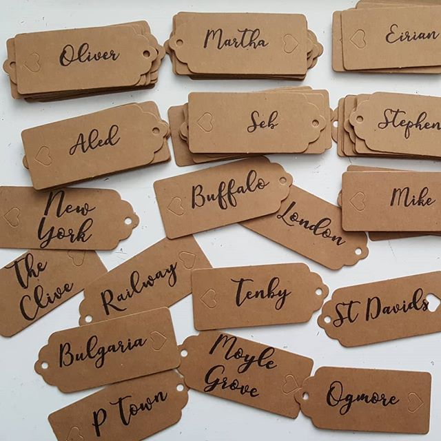 Luggage Tag Place Names