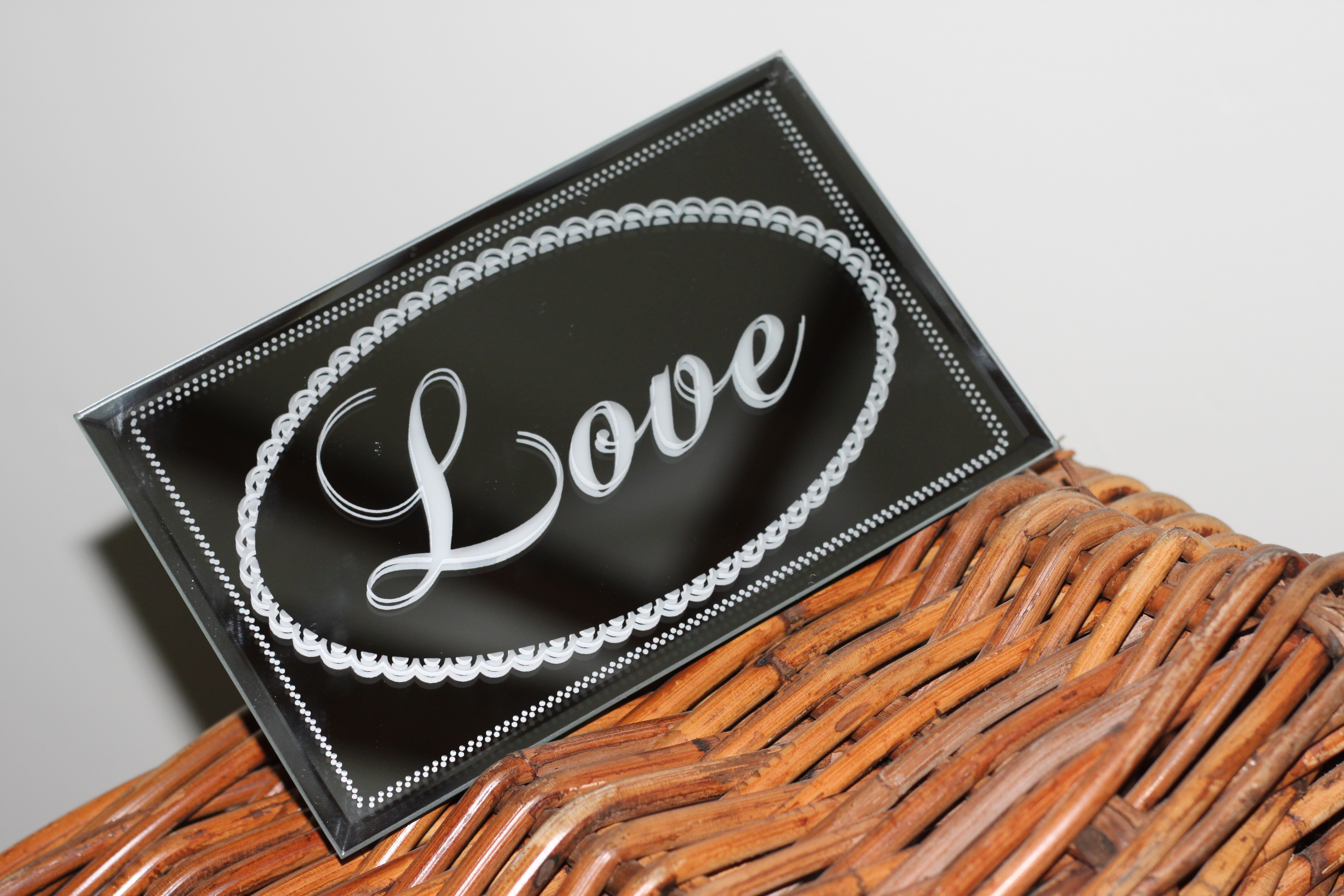 Mirrored 'Love' Sign