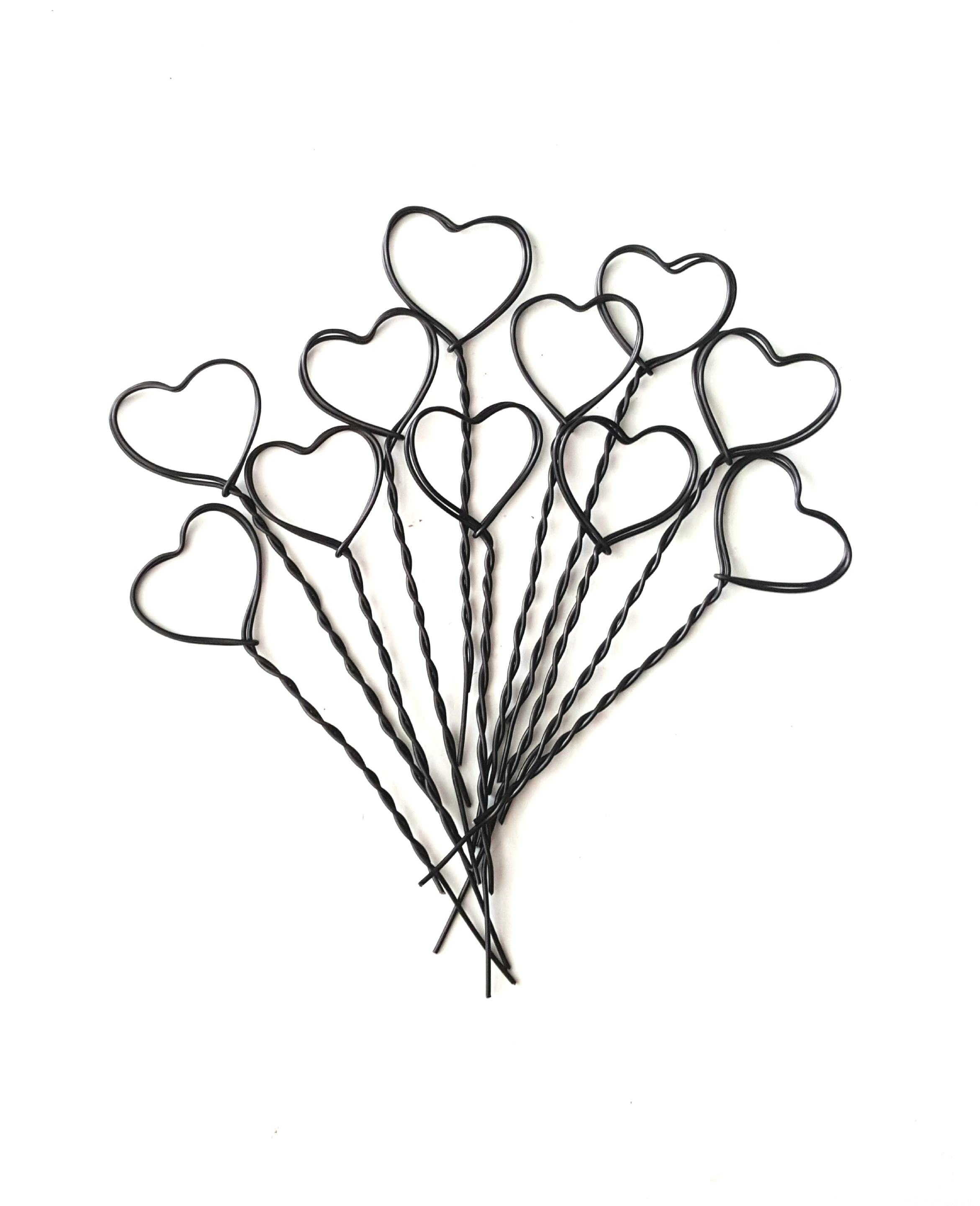Wire Heart Card Holders 30p