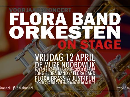 Laatste kans – koop uw kaarten voor Flora Band orkesten – On Stage!