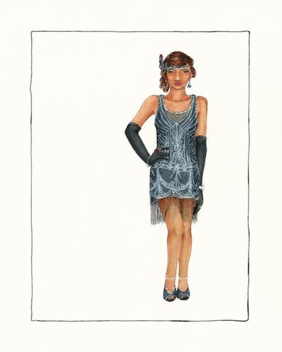 Modern Flapper Dress Design for Sleuth Kings