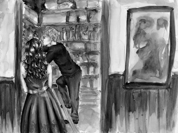 Storeroom, Phoenix.  2017 - . Ink, watercolor, and  digital processing on Bristol. 16x10in.