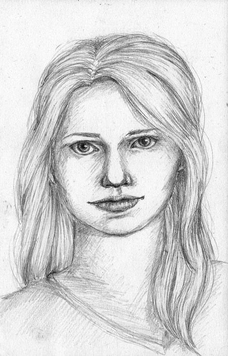 Character Concept Sketch, Hanna
