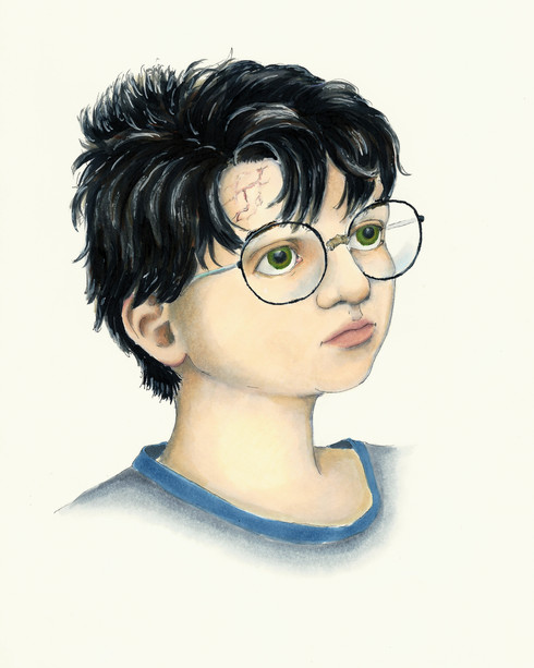 Harry Potter  - Age 11 Concept. 2019. Ink on Paper.