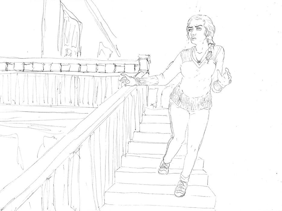"""Dizzy,"" Illustrative Drawing of Kyna"