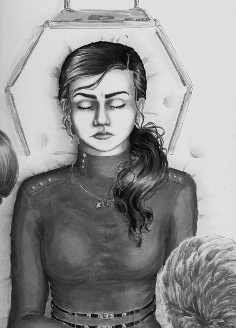 """Degauss"" Illustrative Drawing of Kyna"