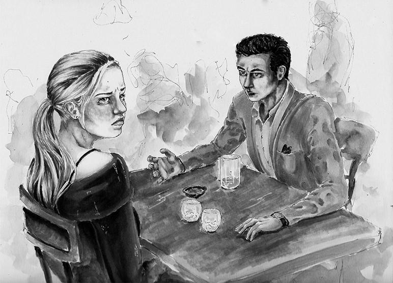 """Cliches,"" Illustrative Drawing of Sarka & Jason"
