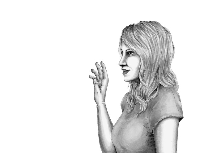 """Light Dancing,"" Illustrative Drawing of Hanna"