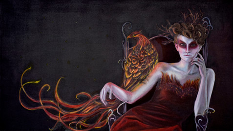 Phoenix Queen (concept). 2014 - . Oil on Canvas, 48x27in.